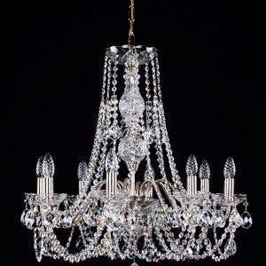 Glass & Metal Arms Chandeliers